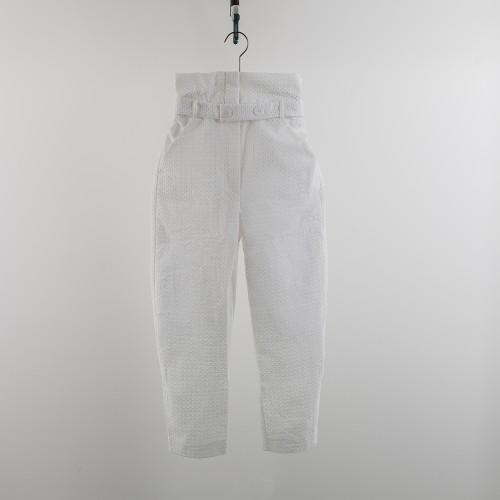 Pants embroidered white YOU&ME