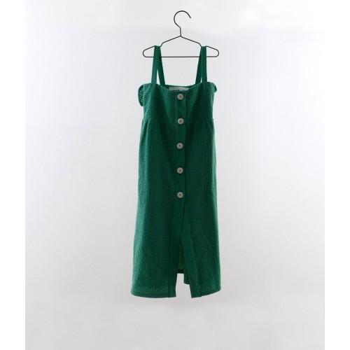 Vestido tirantes bordado suizo verde YOU&ME