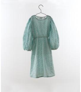 Vestido manga abullonada bordado jade YOU&ME