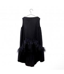 Vestido negro con plumas YOU&ME