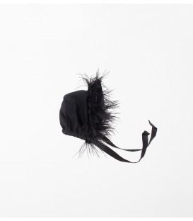 Gorrito negro con plumas YOU&ME