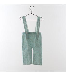 Pantalón de tirantes bordado jade YOU&ME
