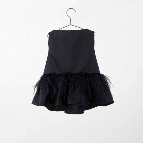 Black dress with feathers YOU&ME