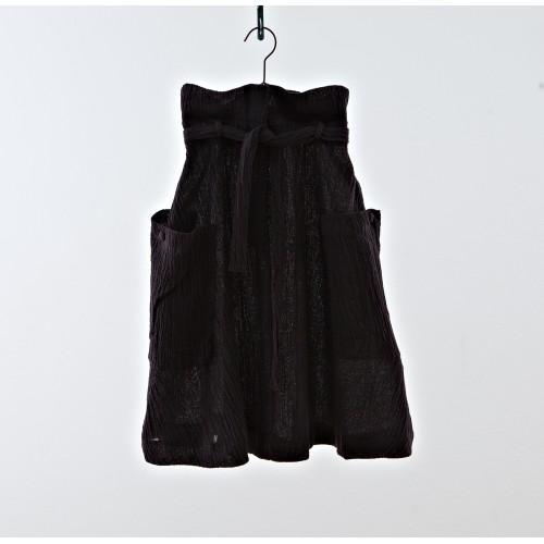 Falda Midi negra efecto arrugado YOU&ME