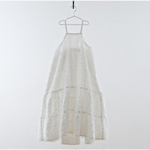 Vestido tirante blanco fleco YOU&ME