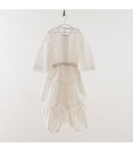 Vestido blanco con vainica YOU&ME