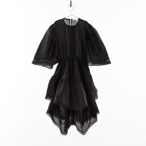 Vestido negro con vainica YOU&ME