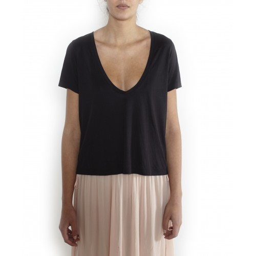 Cropped T-shirt YOU&ME , silk cotton