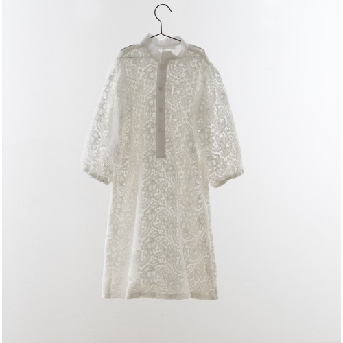 Vestido blanco bordado calado YOU&ME